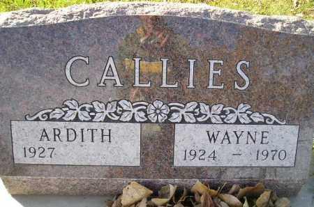 CALLIES, ARDITH - Miner County, South Dakota | ARDITH CALLIES - South Dakota Gravestone Photos
