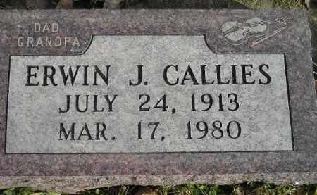 CALLIES, ERWIN J. - Miner County, South Dakota | ERWIN J. CALLIES - South Dakota Gravestone Photos