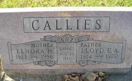 CALLIES, ELNORA H. - Miner County, South Dakota | ELNORA H. CALLIES - South Dakota Gravestone Photos