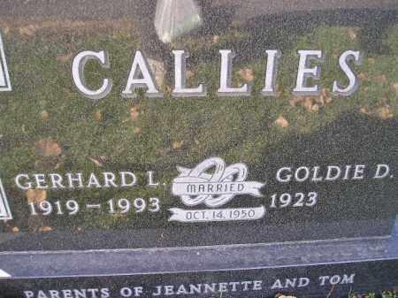 CALLIES, GERHARD L. - Miner County, South Dakota | GERHARD L. CALLIES - South Dakota Gravestone Photos
