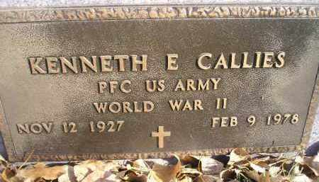 CALLIES, KENNETH E. (WW II) - Miner County, South Dakota | KENNETH E. (WW II) CALLIES - South Dakota Gravestone Photos