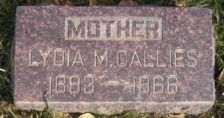 CALLIES, LYDIA M. - Miner County, South Dakota   LYDIA M. CALLIES - South Dakota Gravestone Photos