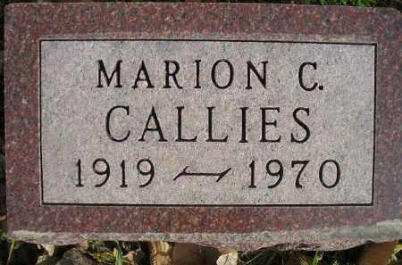 CALLIES, MARION C. - Miner County, South Dakota | MARION C. CALLIES - South Dakota Gravestone Photos