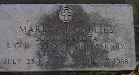 CALLIES, MARLIN J. - Miner County, South Dakota | MARLIN J. CALLIES - South Dakota Gravestone Photos