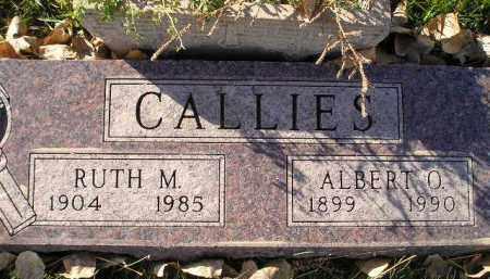 CALLIES, ALBERT O. - Miner County, South Dakota | ALBERT O. CALLIES - South Dakota Gravestone Photos