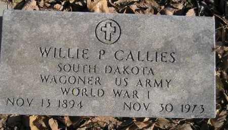 CALLIES, WILLIE P. - Miner County, South Dakota | WILLIE P. CALLIES - South Dakota Gravestone Photos