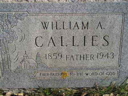 CALLIES, WILLIAM A. - Miner County, South Dakota | WILLIAM A. CALLIES - South Dakota Gravestone Photos