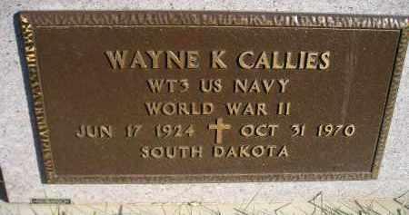 CALLIES, WAYNE K. (WW II) - Miner County, South Dakota | WAYNE K. (WW II) CALLIES - South Dakota Gravestone Photos