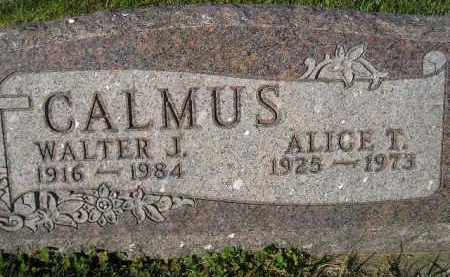 CALMUS, ALICE T. - Miner County, South Dakota | ALICE T. CALMUS - South Dakota Gravestone Photos