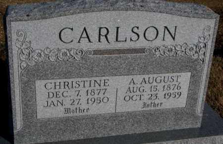 CARLSON, A. AUGUST - Miner County, South Dakota | A. AUGUST CARLSON - South Dakota Gravestone Photos