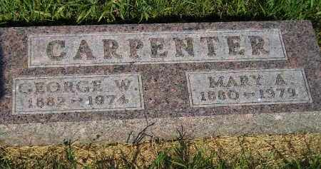 CARPENTER, MARY A. - Miner County, South Dakota | MARY A. CARPENTER - South Dakota Gravestone Photos