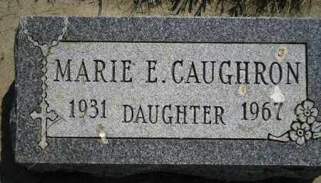 CAUGHRON, MARIE E. - Miner County, South Dakota | MARIE E. CAUGHRON - South Dakota Gravestone Photos