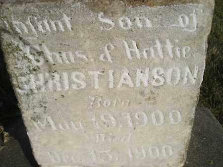 CHRISTIANSON, INFANT SON - Miner County, South Dakota   INFANT SON CHRISTIANSON - South Dakota Gravestone Photos