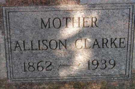 CLARKE, ALLISON - Miner County, South Dakota | ALLISON CLARKE - South Dakota Gravestone Photos