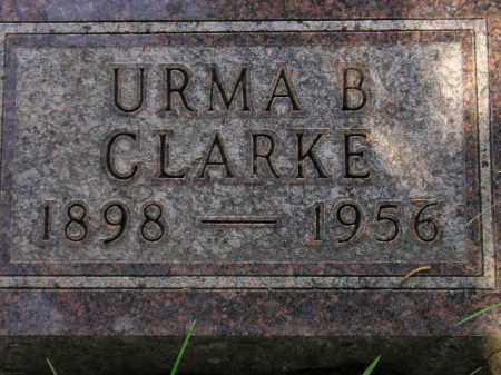CLARKE, URMA B. - Miner County, South Dakota | URMA B. CLARKE - South Dakota Gravestone Photos