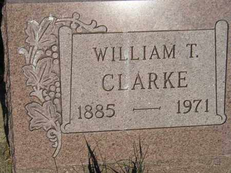 CLARKE, WILLIAM T. - Miner County, South Dakota | WILLIAM T. CLARKE - South Dakota Gravestone Photos