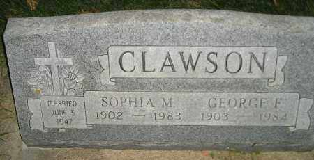 CLAWSON, GEORGE F. - Miner County, South Dakota | GEORGE F. CLAWSON - South Dakota Gravestone Photos