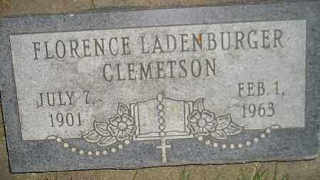 LADENBURGER CLEMETSON, FLORENCE - Miner County, South Dakota | FLORENCE LADENBURGER CLEMETSON - South Dakota Gravestone Photos