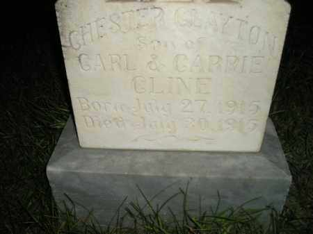 CLINE, CHESTER CLAYTON - Miner County, South Dakota | CHESTER CLAYTON CLINE - South Dakota Gravestone Photos