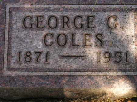COLES, GEORGE C. - Miner County, South Dakota | GEORGE C. COLES - South Dakota Gravestone Photos