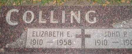 COLLING, ELIZABETH E. - Miner County, South Dakota | ELIZABETH E. COLLING - South Dakota Gravestone Photos