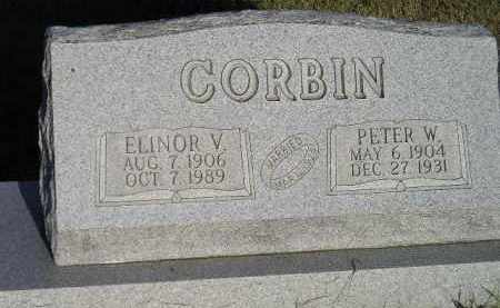 CORBIN, ELINOR V. - Miner County, South Dakota | ELINOR V. CORBIN - South Dakota Gravestone Photos