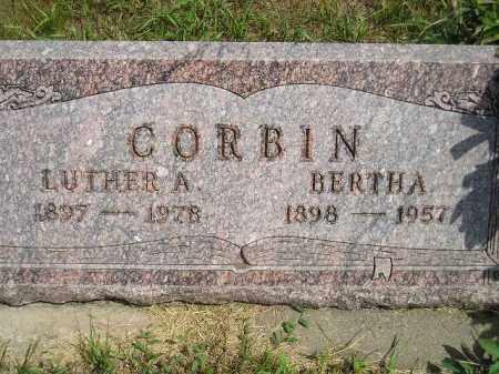 CORBIN, BERTHA - Miner County, South Dakota | BERTHA CORBIN - South Dakota Gravestone Photos