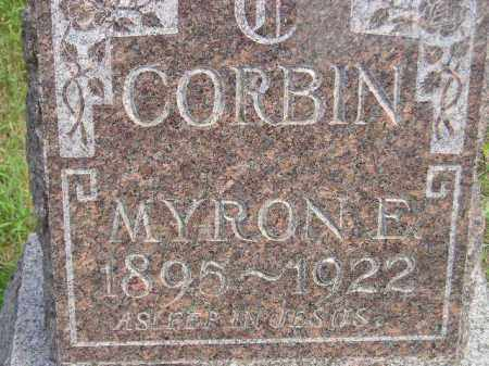 CORBIN, MYRON E. - Miner County, South Dakota | MYRON E. CORBIN - South Dakota Gravestone Photos