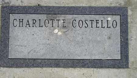 COSTELLO, CHARLOTTE - Miner County, South Dakota | CHARLOTTE COSTELLO - South Dakota Gravestone Photos