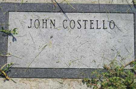 COSTELLO, JOHN - Miner County, South Dakota | JOHN COSTELLO - South Dakota Gravestone Photos
