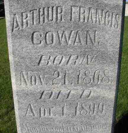 COWAN, ARTHUR FRANCIS - Miner County, South Dakota | ARTHUR FRANCIS COWAN - South Dakota Gravestone Photos
