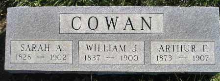 COWAN, SARAH A. - Miner County, South Dakota | SARAH A. COWAN - South Dakota Gravestone Photos