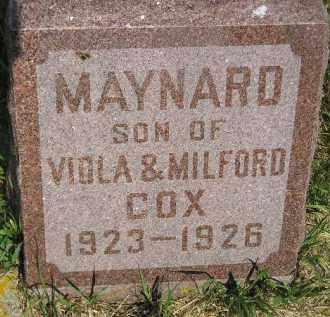 COX, MAYNARD - Miner County, South Dakota | MAYNARD COX - South Dakota Gravestone Photos