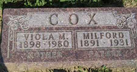 COX, VIOLA M. - Miner County, South Dakota | VIOLA M. COX - South Dakota Gravestone Photos