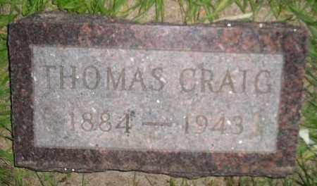 CRAIG, THOMAS - Miner County, South Dakota | THOMAS CRAIG - South Dakota Gravestone Photos