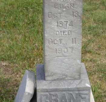 CRANE, ANNA - Miner County, South Dakota | ANNA CRANE - South Dakota Gravestone Photos