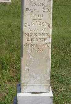CRANE, ELISABETH - Miner County, South Dakota | ELISABETH CRANE - South Dakota Gravestone Photos