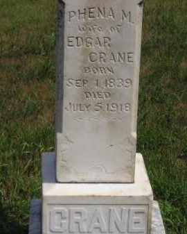 CRANE, PHENA M. - Miner County, South Dakota | PHENA M. CRANE - South Dakota Gravestone Photos