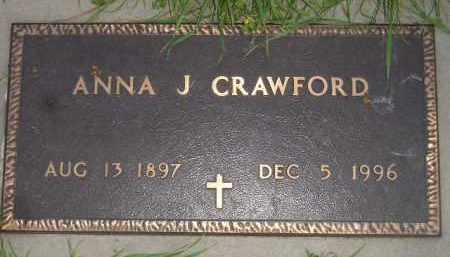 CRAWFORD, ANNA J. - Miner County, South Dakota | ANNA J. CRAWFORD - South Dakota Gravestone Photos