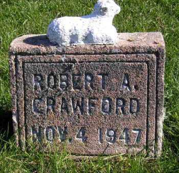 CRAWFORD, ROBERT A. - Miner County, South Dakota | ROBERT A. CRAWFORD - South Dakota Gravestone Photos