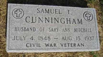 CUNNINGHAM, SAMUEL T. - Miner County, South Dakota | SAMUEL T. CUNNINGHAM - South Dakota Gravestone Photos