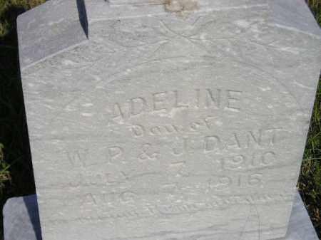 DANT, ADELINE - Miner County, South Dakota | ADELINE DANT - South Dakota Gravestone Photos