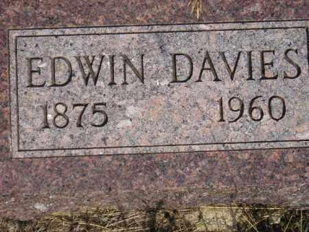 DAVIES, EDWIN - Miner County, South Dakota | EDWIN DAVIES - South Dakota Gravestone Photos