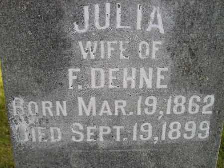 DEHNE, JULIA - Miner County, South Dakota | JULIA DEHNE - South Dakota Gravestone Photos