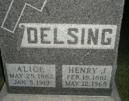 DELSING, ALICE - Miner County, South Dakota | ALICE DELSING - South Dakota Gravestone Photos