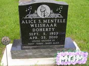 MENTELE DOHERTY, ALICE S - Miner County, South Dakota   ALICE S MENTELE DOHERTY - South Dakota Gravestone Photos