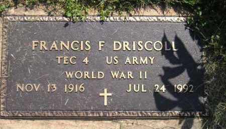 DRISCOLL, FRANCIS F. (WW II) - Miner County, South Dakota | FRANCIS F. (WW II) DRISCOLL - South Dakota Gravestone Photos