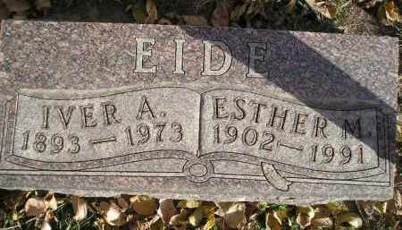 EIDE, IVER A. - Miner County, South Dakota | IVER A. EIDE - South Dakota Gravestone Photos