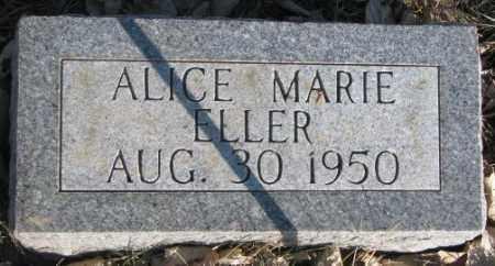 ELLER, ALICE MARIE - Miner County, South Dakota | ALICE MARIE ELLER - South Dakota Gravestone Photos