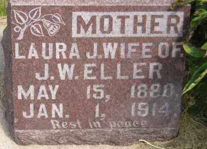 ELLER, LAURA J. - Miner County, South Dakota | LAURA J. ELLER - South Dakota Gravestone Photos